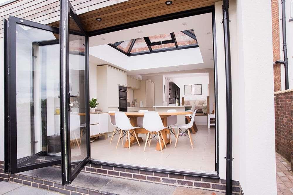 Bi-folding Doors & Lantern Light Roof