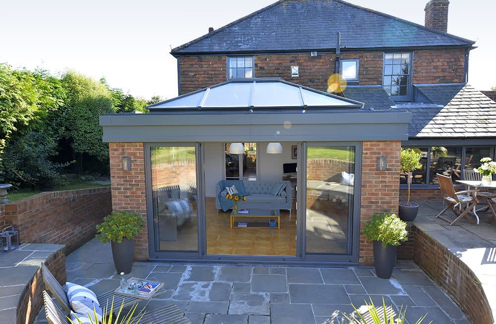 Patio Doors & Lantern Light Roof